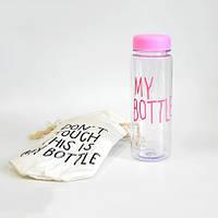 Бутылочка My Bottle в чехле 500 ml (розовая)