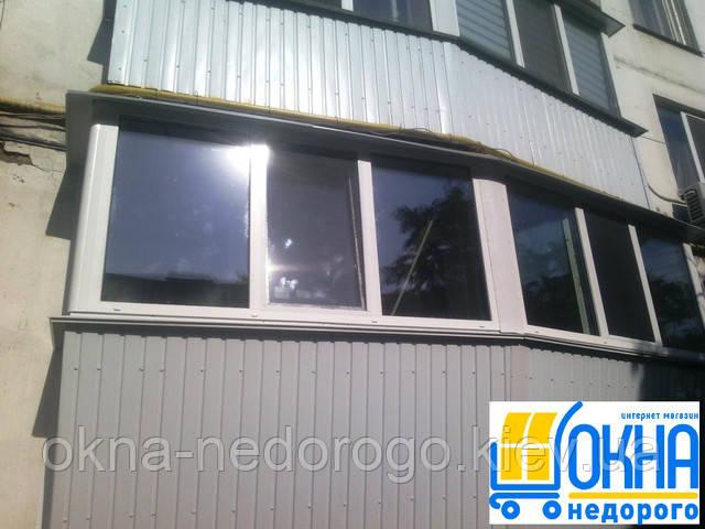 Обшивка балконов профнастилом снаржи - 450 грн/м.кв.