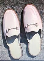 Мюли в стиле Gucci женские.! Сабо на низком ходу с закрытым носком Шлепанцы  Гучи 0e878fbf7f9