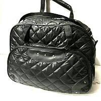 Стеганные сумки оптом из плотной ткани,водонепроницаемая (черный)28*42, фото 1