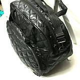 Стеганные сумки оптом из плотной ткани,водонепроницаемая (черный)28*42, фото 2
