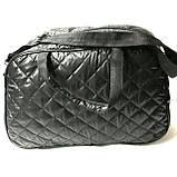 Стеганные сумки оптом из плотной ткани,водонепроницаемая (черный)28*42, фото 3