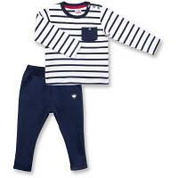 Набор детской одежды E&H в полосочку и с карманчиком (8999-80B-blue)