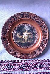 Підвісна  тарілка з кераміки Соняшники