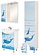 Зеркало в ванную аэрография Дельфин, фото 3