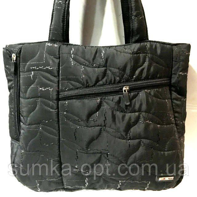 Стеганные сумки оптом из плотной ткани,водонепроницаемая (черный узор)30*35