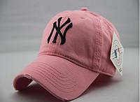 Кепка NY New York Yankee бейсболка мужская / женская. Цвет РОЗОВЫЙ