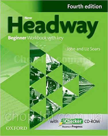 New Headway Beginner Fourth Edition Workbook + iChecker with Key (тетрадь с диском и ключами, 4-е издание), фото 2