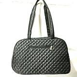 Стеганные сумки оптом из плотной ткани,водонепроницаемая (черный)25*42, фото 3