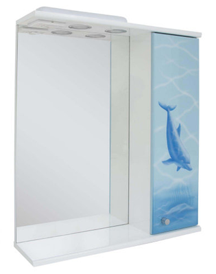 Зеркало в ванную аэрография Дельфин