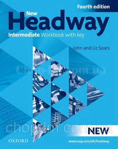 New Headway Intermediat Fourth Edition Workbook + iChecker with Key (тетрадь с диском и ключами, 4-е издание)