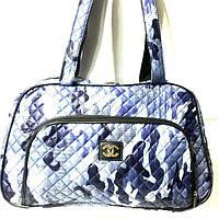 Стеганные сумки оптом из плотной ткани,водонепроницаемая (принт)25*42, фото 1