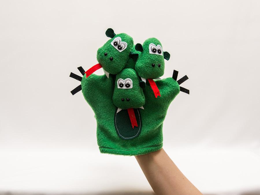 Кукла-перчатка Vikamade Змей Горыныч.