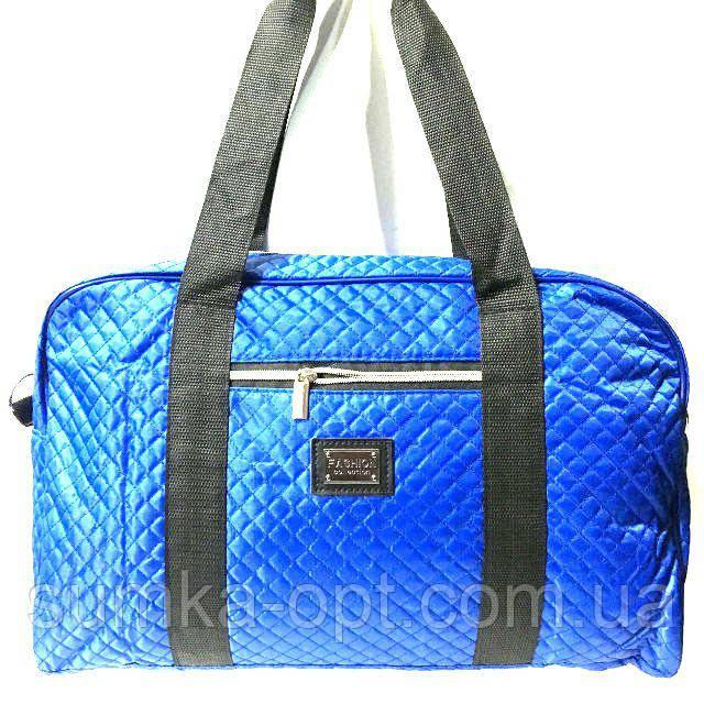 Стеганные сумки оптом из плотной ткани,водонепроницаемая (яркий синий)25*42