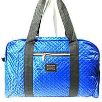 Стеганные сумки оптом из плотной ткани,водонепроницаемая (яркий синий)25*42, фото 1