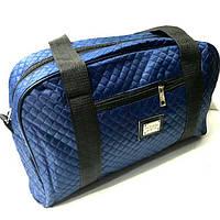 Стеганные сумки оптом из плотной ткани,водонепроницаемая (темно-синий)25*42, фото 1