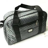 Стеганные сумки оптом из плотной ткани,водонепроницаемая (серый)25*42, фото 1