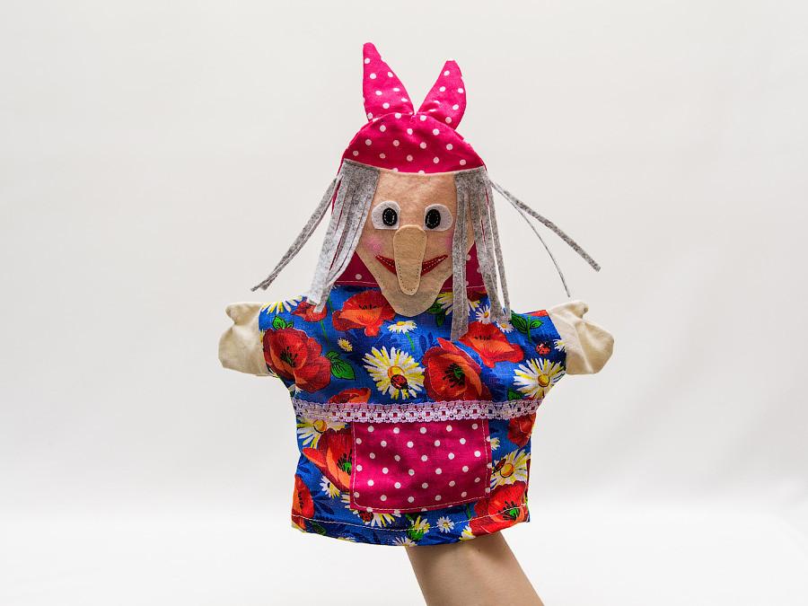 Кукла-перчатка Баба Яга малая