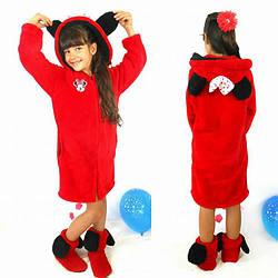 Детский махровый-велсофт халат Минни на 2 и 4 года