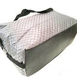 Стеганные сумки оптом из плотной ткани,водонепроницаемая (серый)30*39, фото 3