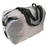 Стеганные сумки оптом из плотной ткани,водонепроницаемая (серый)30*39, фото 2
