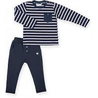 Набор детской одежды Breeze в полосочку и с карманчиком (8999-74B-darkblue)