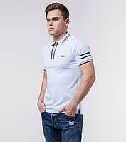 Braggart | Мужская футболка поло 71034 бело-серый, фото 1