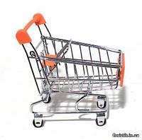 Декоративная мини-тележка (игрушка) оранжевая