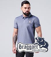 Braggart   Рубашка поло из хлопка 17092 серо-синий, фото 1
