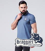 Braggart | Футболка поло мужская из хлопка 17092 синяя бирюза, фото 1
