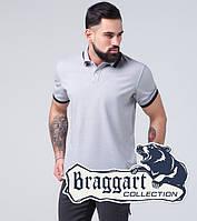 Braggart   Футболка поло мужская 6637 серый, фото 1