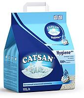 Catsan Hygiene plus - Катсан - Минеральный наполнитель для кошачьих туалетов - 10л