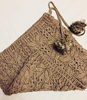 Юбка вязанная Accessorize коричневая с бубонами