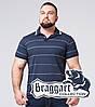 Braggart | Мужская рубашка поло большого размера 6685-1 синий