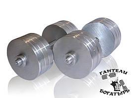Складальні гантелі Богатир металеві 2 штуки по 30 кг