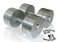 Наборные металлические гантели Богатырь 2 штуки по 32 кг, фото 1