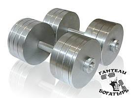 Збірні металеві гантелі Богатир 2 штуки по 32 кг