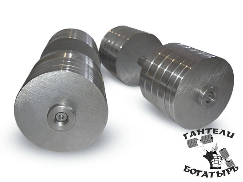 Разборные металлические гантели Богатырь 2 штуки по 48 кг