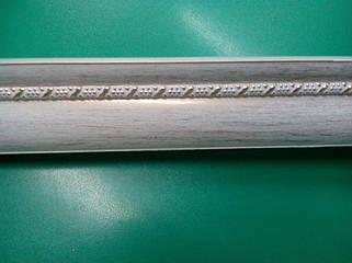 Карниз алюминиевый с молдингом широкий