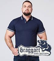 Braggart | Мужская футболка поло из хлопка большого размера 6637-1A синий, фото 1