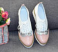 Женские туфли - натуральная кожа белый лак, фото 2