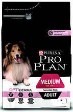 Корм Purina Pro Plan (Пурина Про План) Adult MEDIUM Sensitive для взрослых собак средних пород (лососем), 14