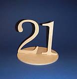 Цифры двойные на подставке (Номерки на столы) от 20 до 25 заготовка для декупажа и декора, фото 2