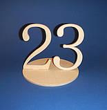 Цифры двойные на подставке (Номерки на столы) от 20 до 25 заготовка для декупажа и декора, фото 4