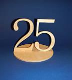 Цифры двойные на подставке (Номерки на столы) от 20 до 25 заготовка для декупажа и декора, фото 6