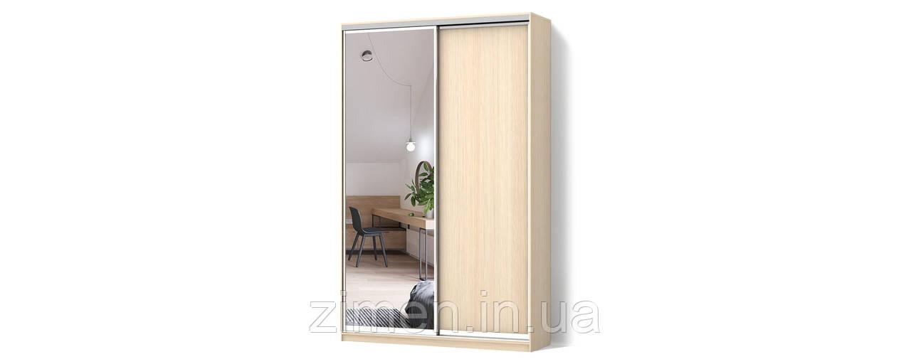 Шкаф-купе Стандарт двухдверный ДСП/Зеркало