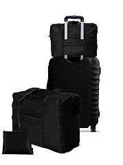 Дорожня сумка для ручної поклажі Coverbag чорна