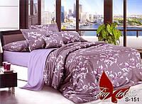 Комплект постельного белья с компаньоном S-151 семейный сатин