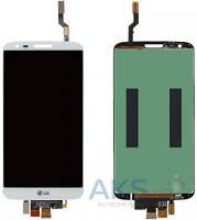 Дисплей (экран) для телефона LG G2 D800, G2 D801, G2 D803, LS980, VS980 + Touchscreen Original White