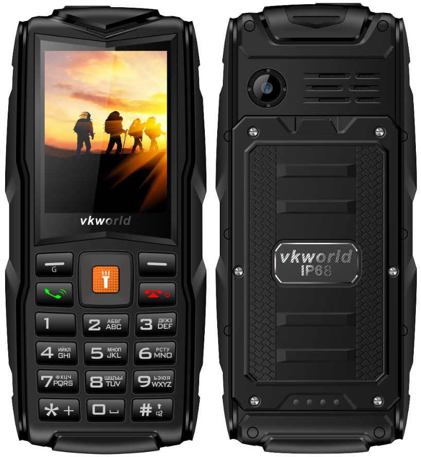 VKworld Stone V3 New   Черный   Защищённый IP68  